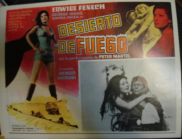 Desert of Fire Mexican Lobby Card