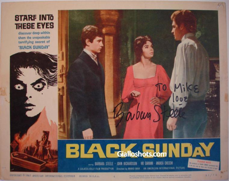 Black Sunday US LC signed by Barbara Steele