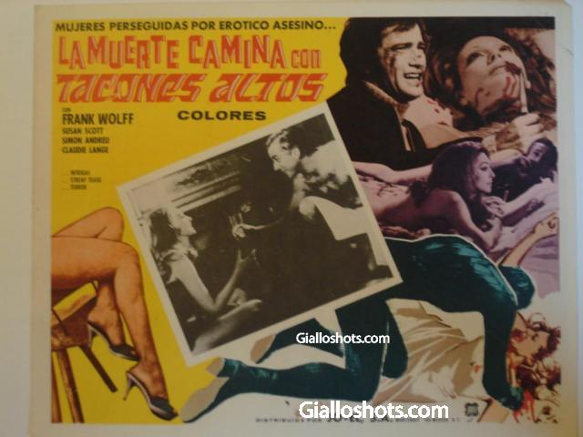 Death Walks in High Heels Mexican lobby card #2