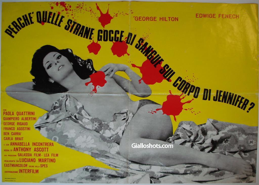 Case of the Bloody Iris Italian one sheet