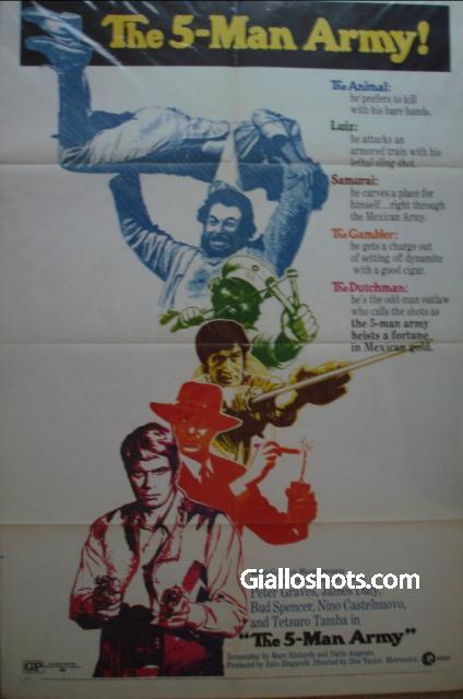 The 5-Man Army US one sheet