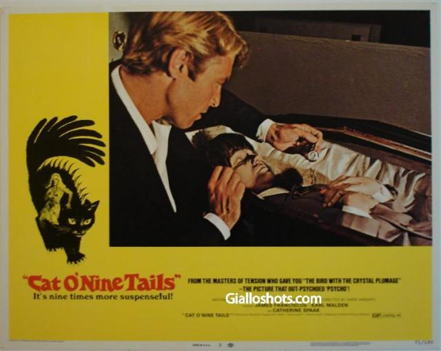 Cat O' Nine Tails US lobby card #2
