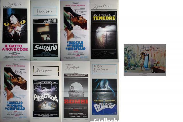 Argento signed posters