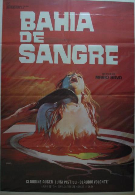Bay of Blood (Twitch of the Death Nerve) Spanish one sheet