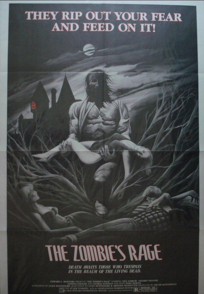Antropophagus (Zombie's Rage) US one sheet