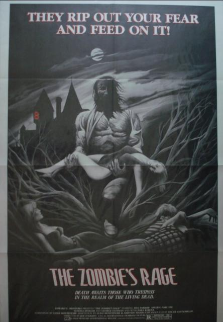 Antropophagus (Zombie's Rage) US one sheet